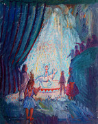 Spectators Paintings - The Shrine Circus by Bill Joseph  Markowski