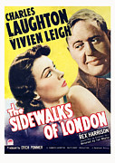 1938 Movies Posters - The Sidewalks Of London, Vivien Leigh Poster by Everett