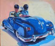 Cars Paintings - The Sightseers by Deb Putnam