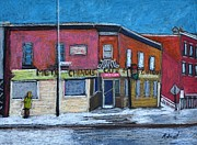 Street Pastels - The Silver Dragon Restaurant Verdun by Reb Frost