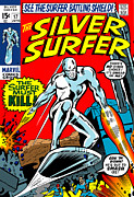Steve Benton Art - The Silver Surfer 17 by Steve Benton