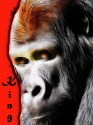 Primate Prints - The Silverback Gorilla . King of the Jungle Print by Wingsdomain Art and Photography