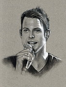 Entertainer Drawings Prints - The Singer Print by Joyce Geleynse