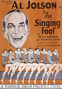 1920s Portraits Posters - The Singing Fool, Al Jolson, 1928 Poster by Everett