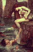 Entrapment Posters - The Siren Poster by John William Waterhouse