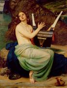 Harp Framed Prints - The Siren Framed Print by Sir Edward John Poynter