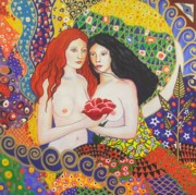 Anni Morris Art - The Sisters by Anni Morris