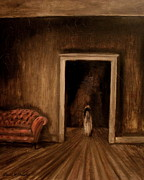 Haunted House Paintings - The Sisters by Daniel W Green