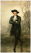 Colonial Man Framed Prints - The Skater Portriat of William Grant Framed Print by Gilbert Stuart