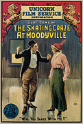 Roller Skating Prints - The Skating Craze At Moodyville, 1916 Print by Everett