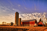 Farming Barns Framed Prints - The Skittles Barn Framed Print by Joel Witmeyer