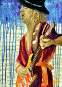Classic Rock Painting Originals - The sky is crying by Michael Lee