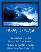 Inspirational Saying Prints - The Sky Is The Limit Print by Andee Photography