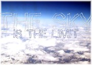 Ambition Posters - The Sky is the Limit Poster by Menucha Citron