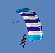 Parachute Jump Prints - The Skydiver Print by Paul Ward