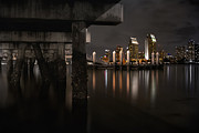 Long Exposure Art - The Skyline of San Diego by Sean Foster