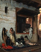 Harem Painting Framed Prints - The Slave Market Framed Print by Jean Leon Gerome