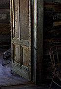 Old Cabins Posters - The Sled Closet Poster by Lorraine Devon Wilke