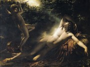 Leopard Skin Framed Prints - The Sleep of Endymion Framed Print by Anne Louis Girodet de RoucyTrioson