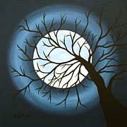 Moonscape Painting Prints - The Sleeping Print by Angela Hansen