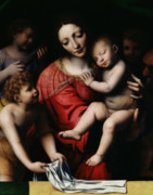 Blessed Mother Prints - The Sleeping Christ Print by Bernardino Luini
