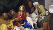 Christ Child Prints - The Sleeping Christ Print by Charles Le Brun