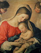 Virgin Mary Paintings - The Sleeping Christ Child by Il Sassoferrato