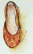 Shoe Paintings - The Slipper by Lucia Del