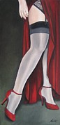 Stockings Painting Prints - The Slit Print by Jindra Noewi