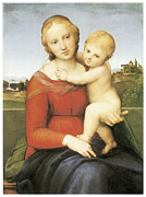 Religious Art Paintings - The Small Couper Madonna by Raffaello Sanzio