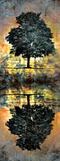 Reflection Digital Art Posters - The Small Dreams of Trees Poster by Tara Turner