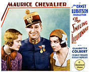 Lobbycard Framed Prints - The Smiling Lieutenant, From Left Framed Print by Everett