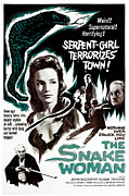 Horror Movies Posters - The Snake Woman, Aka Terror Of The Poster by Everett