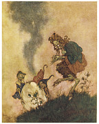 Fantasy Paintings - The Snow Queen by Edmund Dulac