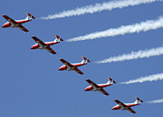 Aerobatics Framed Prints - The Snowbirds Flyby Framed Print by Bob Christopher