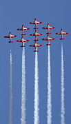 Aerobatics Framed Prints - The Snowbirds Going Vertical Framed Print by Bob Christopher