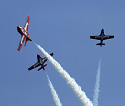 Aerobatics Framed Prints - The Snowbirds Having A Blast Framed Print by Bob Christopher