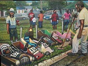 Summer Fun Painting Originals - The Soap Box Derby by Anthony Stollings