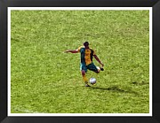 Sports Digital Art Metal Prints - The Soccer Player Metal Print by John Vito Figorito
