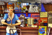 Milkshakes Posters - The Soda Fountain Poster by David Patterson