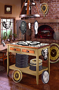 Fireplace Prints - The Soft Clock Shop 2 Print by Mike McGlothlen