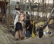 Gouache Paintings - The Sojourn by Tissot