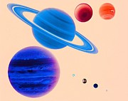 Planets Metal Prints - The Solar System Metal Print by Digital Vision.