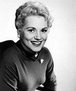 1950s Portraits Posters - The Solid Gold Cadillac,judy Holliday Poster by Everett