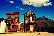 Tv Set Prints - The Sombrero Bank in Old Tuscon Arizona Print by Susanne Van Hulst