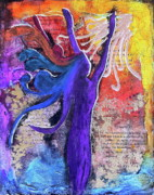 Song Mixed Media Originals - The Song Divine by Yolanda Nussdorfer