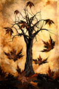 Branch Digital Art Metal Prints - The song of Autumn Metal Print by John Edwards