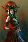 Sorceress Framed Prints - The Sorceress Daughter Framed Print by George Eyo