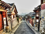 Roofline Prints - The Soul of Seoul Print by Michael Garyet