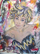 Tina Turner Paintings - The soul queen Tina Turner by Jocelyne Beatrice Ruchonnet